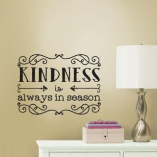 Kindness Quote Peel and Stick Wall Decal