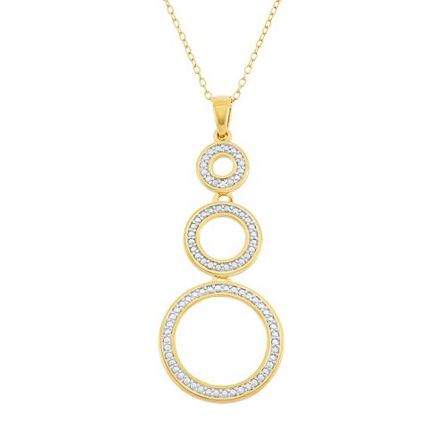 18k Gold Over Silver Circle Pendant Necklace