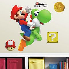 Mario & Yoshi Peel and Stick Wall Decals