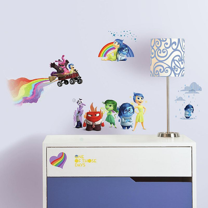 Disney / Pixar Inside Out Character Peel and Stick Wall Decals, Multicolor