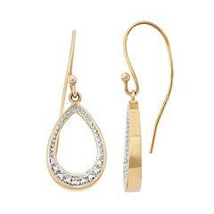 18k Gold Over Silver Teardrop Earrings