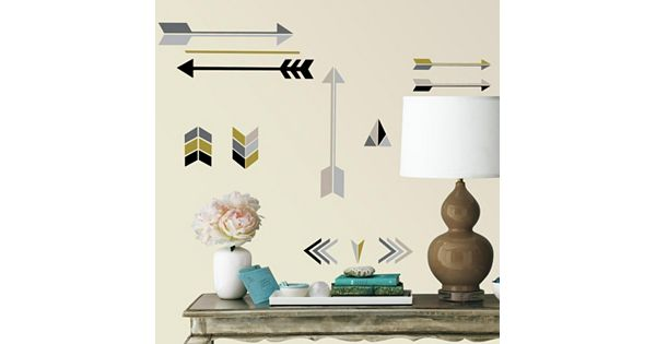 Kohls Arrow Wall Decor : Arrows peel and stick wall decals by roommates