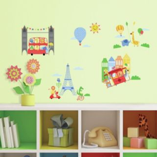 Animals In The City Wall Decals