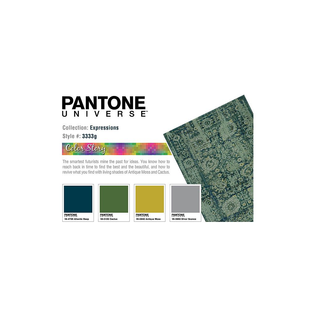 PANTONE UNIVERSE™ Expressions Ornate Floral Rug - 9'9'' x 12'2''