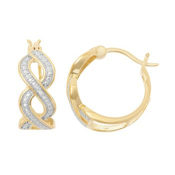 18k Gold Over Silver Hoop Earrings