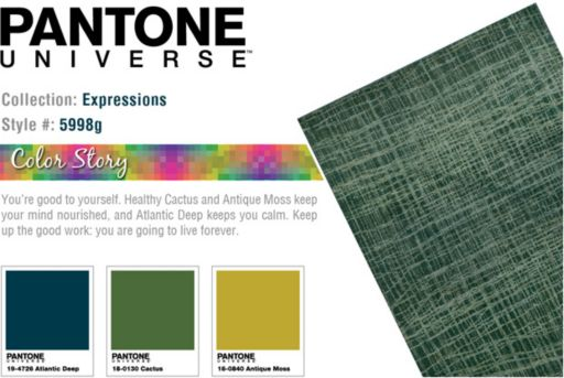 PANTONE UNIVERSE™ Expressions Faded Lines Abstract Rug - 9'9'' x 12'2''