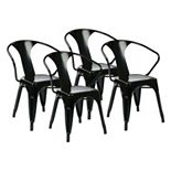 OSP Home Furnishings 4-piece Metal Chair Set