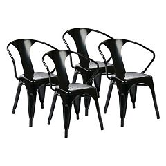 OSP Designs 4-piece Metal Chair Set