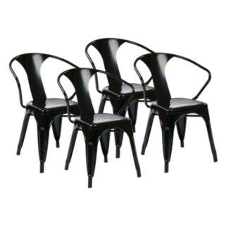 OSP Designs 4-piece Metal Chair Set