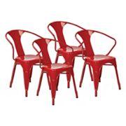 OSP Designs 4 pc Metal Chair Set