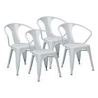 OSP Designs 4 pc Metal Chair Set