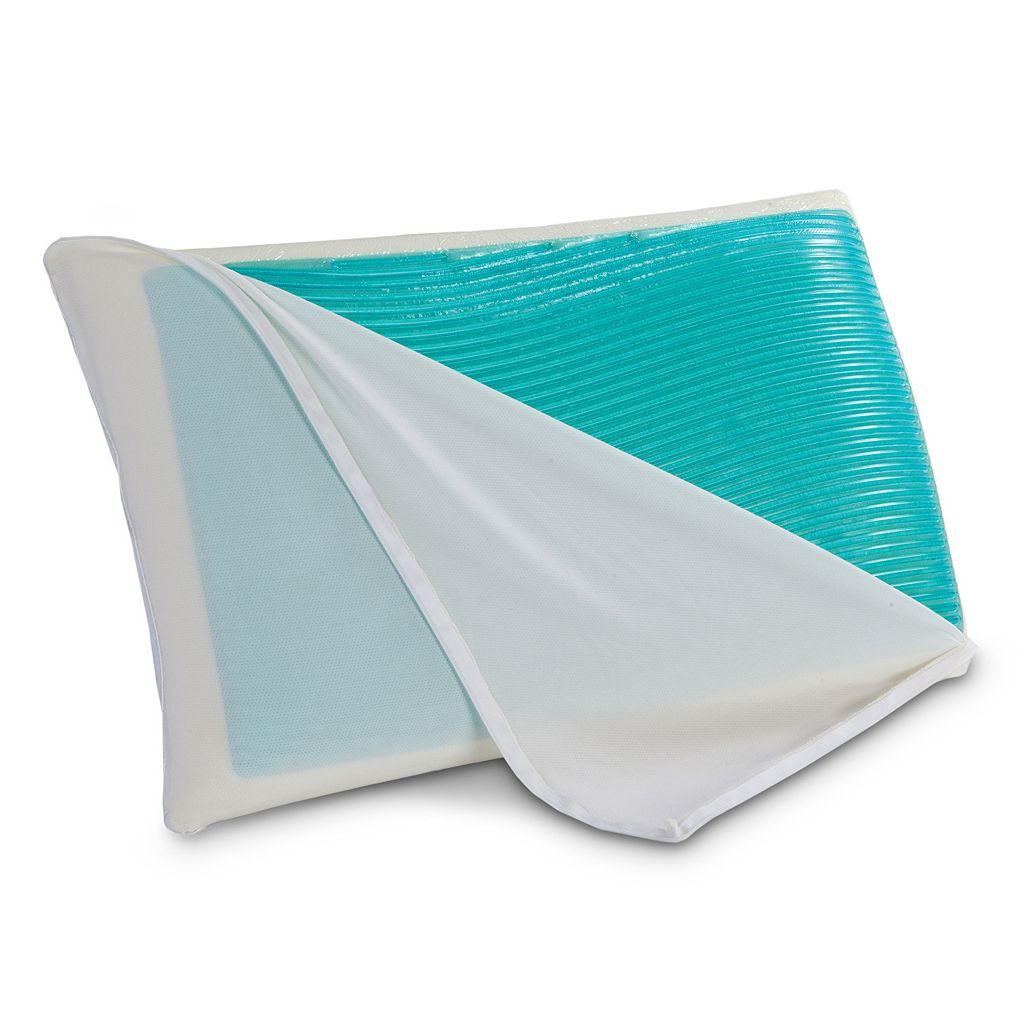 Sealy Hydraluxe Gel Memory Foam & Fiber Reversible Pillow