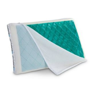Sealy Posturepedic Hybrid Hydraluxe Gel Memory Foam & Fiber Reversible Pillow