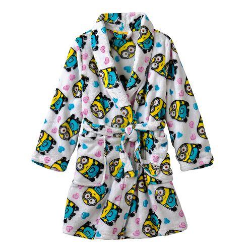 MINIONS Girls Fleece Dressing Gown