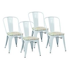 OSP Designs 4 pc Bristow Vintage Dining Chair Set