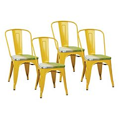 OSP Designs 4-piece Bristow Vintage Dining Chair Set