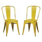 OSP Designs 2 pc Bristow Armless Dining Chair Set