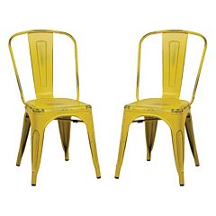 OSP Designs 2 pc Bristow Armless Dining Chair Set
