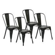 OSP Designs 4 pc Bristow Armless Dining Chair Set