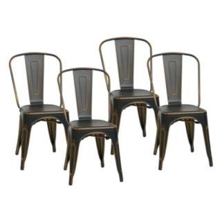 OSP Designs 4-piece Bristow Armless Dining Chair Set