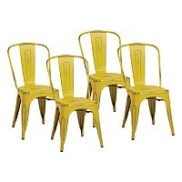OSP Designs 4 pc Bristow Armless Dining Chair Set
