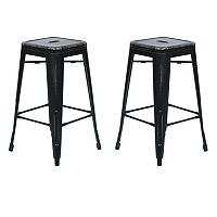 OSP Designs Bristow Distressed Counter Stool 2-piece Set