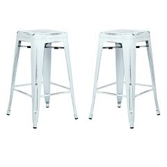 OSP Designs Bristow Distressed Counter Stool 2 pc Set