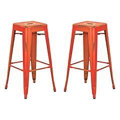 OSP Designs 2 pc Bristow Distressed Bar Stool Set