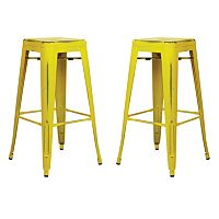 OSP Designs 2-piece Bristow Distressed Bar Stool Set
