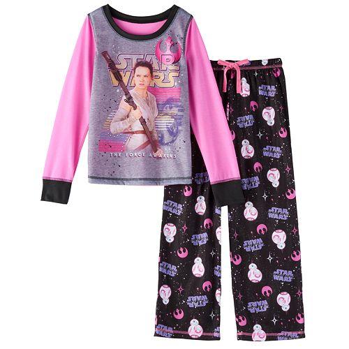 Star Wars: Episode VII The Force Awakens Rey Girls 6-14 Pajama Set