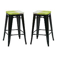 OSP Designs 2-piece Bristow Antique Counter Stool Set