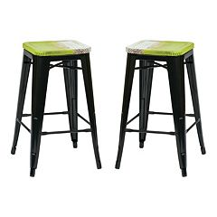 OSP Designs 2 pc Bristow Antique Counter Stool Set