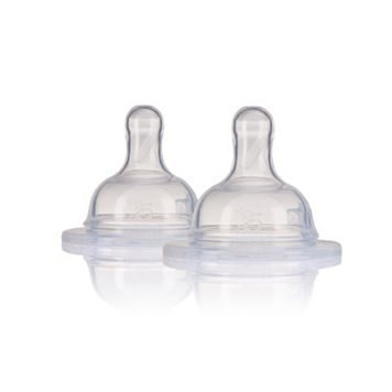 5 Phases 2-pk. Vented Silicone Nipples - 3-6 months