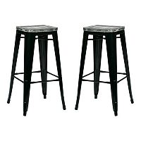 OSP Designs 2-piece Bristow Antique Bar Stool Set