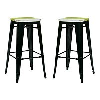 OSP Designs 2 pc Bristow Antique Bar Stool Set