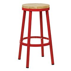 OSP Designs Bristow Metal Backless Bar Stool