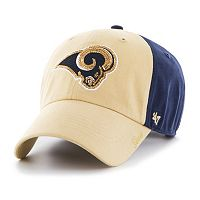 Women's '47 Brand St. Louis Rams Sparkle Logo Clean Up Adjustable Cap