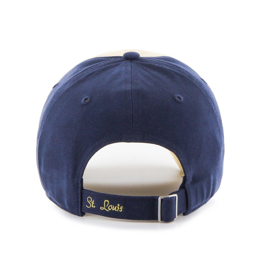 Women's '47 Brand St. Louis Rams Sparkle Logo Clean Up Adjustable Cap
