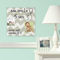 Chevron 5-piece Magnetic Dry Erase Wall Art Set