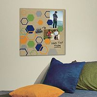 Hexagon 5-piece Magnetic Dry Erase Wall Art Set