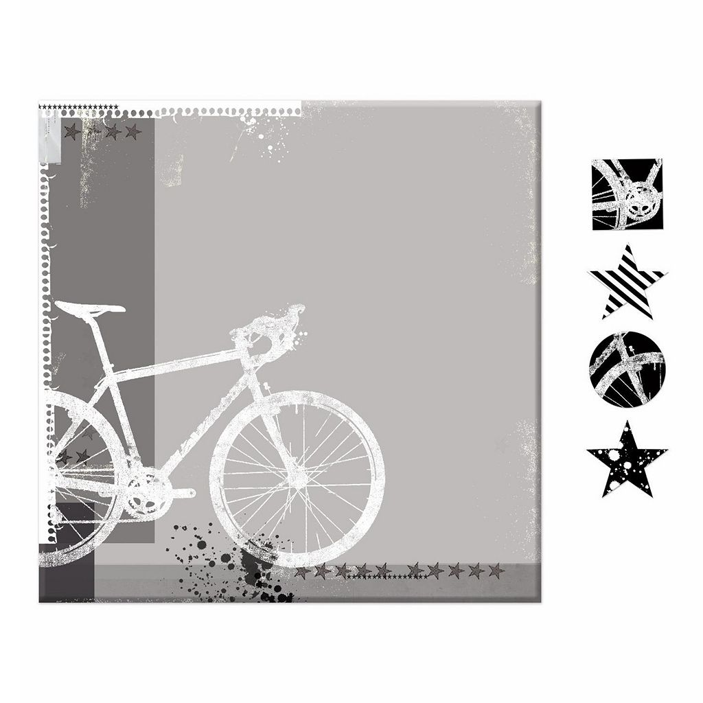 Bicycle 5-piece Magnetic Dry Erase Wall Art Set