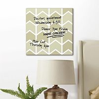 Chevron Arrow Dry Erase Canvas Wall Art