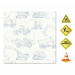 Construction 5-piece Magnetic Dry Erase Wall Art Set