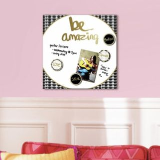 """""""Be Amazing"""" 5-piece Magnetic Dry Erase Wall Art Set"""