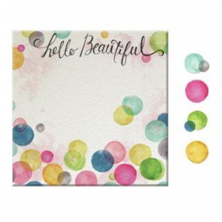 """Hello Beautiful"" 5-piece Magnetic Dry Erase Wall Art Set"