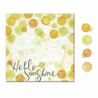 """Hello Sunshine"" 5-piece Magnetic Dry Erase Wall Art Set"