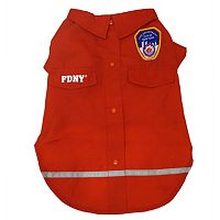 Royal Animals FDNY Woven Dog Shirt