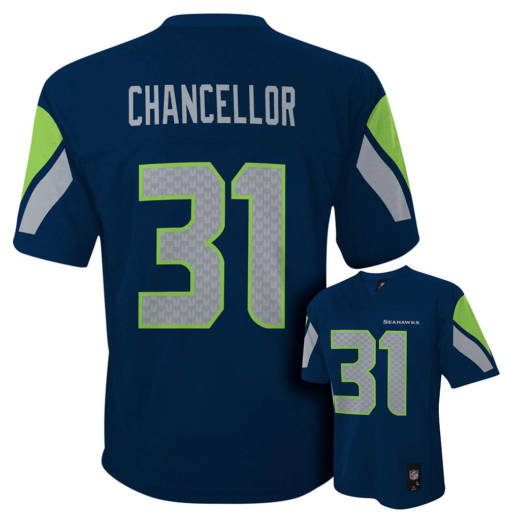 Boys 8-20 Seattle Seahawks Kam Chancellor NFL Replica Jersey