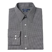 Men's Croft & Barrow® Classic-Fit Checked Easy Care Dress Shirt