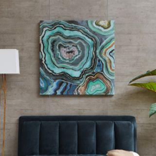 Madison Park ''Aqua Agate'' Canvas Wall Art